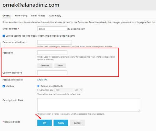 Plesk Panel Üzerinde Mail Şifremi Nasıl Değiştiririm? - Atak Domain Hosting