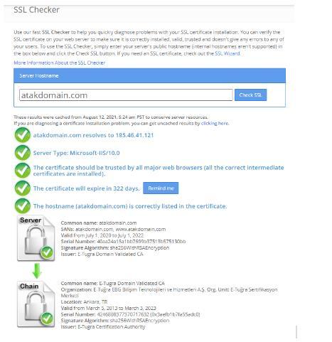 SSL Kontrolü Nasıl Yapılır? | Atak Domain Hosting
