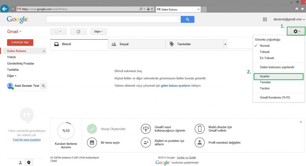 Gmail'e E-Posta Adresi Eklemek